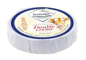 Le Fromager d'Affinois  > France – C'est un fromage double-crème à pâte molle  et croute fleurie blanche, fabriqué à partir de lait pasteurisé de vache (classique) de chèvre ou de brebis