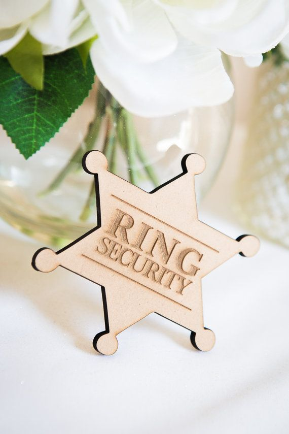 Ringer Bearer Gift Ring Security Badge Pin for by ZCreateDesign