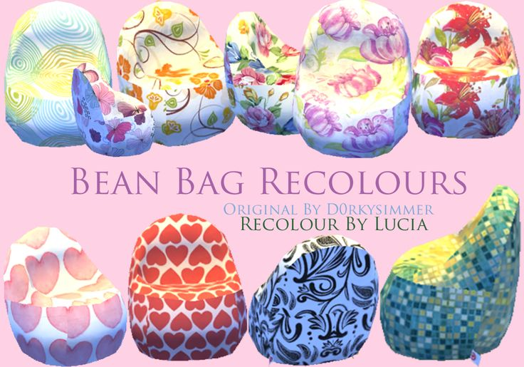 Sims 4 Bean Bag Chairsdownloadrequires The Mesh By