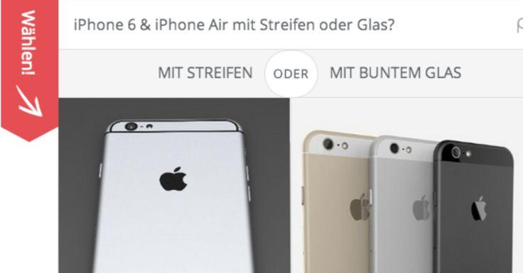 iPhone 6 Umfrage  - http://apfeleimer.de/2014/07/iphone-6-umfrage - Jetzt mal Butter bei die Fische: Welches Design würdet ihr lieber sehen: dieRückseite mit Antennenstreifen oder lieber ein Gerät imhier gezeigten iPhone 5s Design? Sicherlich werden diese Streifen nicht ganz so minderwertig aussehen, wie die Dummys vermuten lassen – dennochbleibt bisla...