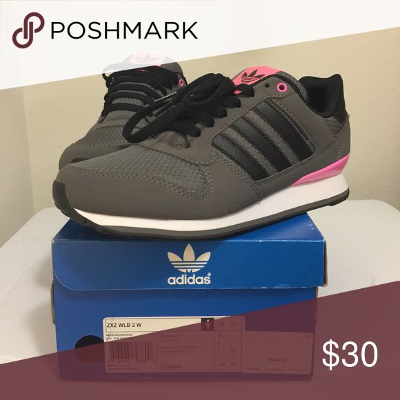 Adidas ZXZ WLB 2 sneakers Gray/pink/white sneakers. Never worn Adidas Shoes Sneakers