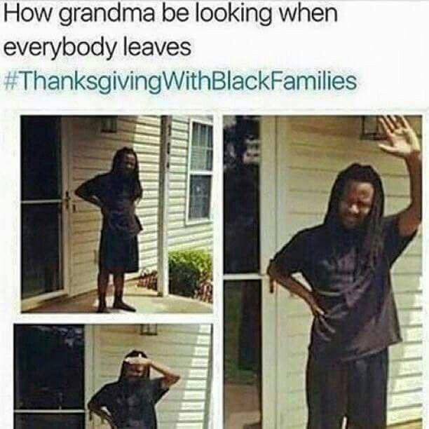 Aww my granny #ThanksgivingWithBlackFamilies