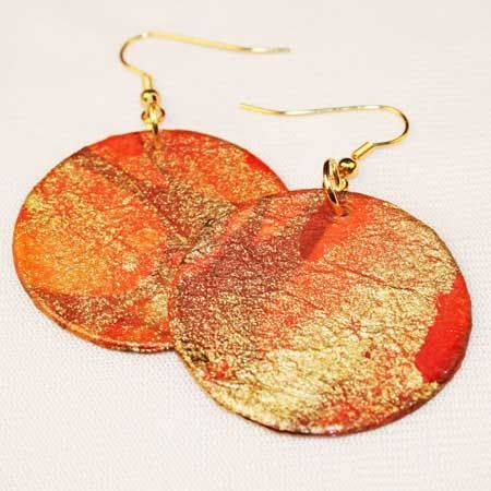 Earrings made from paper by Papermojo