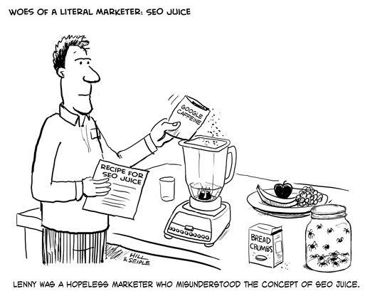 SEO misvattingen - Creating link juice -