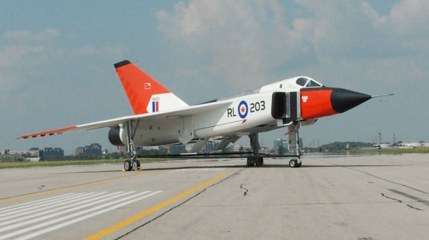 CF-105 Arrow - A beautiful Canadian designed and built delta-winged aircraft - the Avro Arrow. It was a technical and aerodynamic achievement for the Canadian aviation industry as the CF-105 held the promise of Mach 2 speeds at altitudes exceeding 50,000 feet.