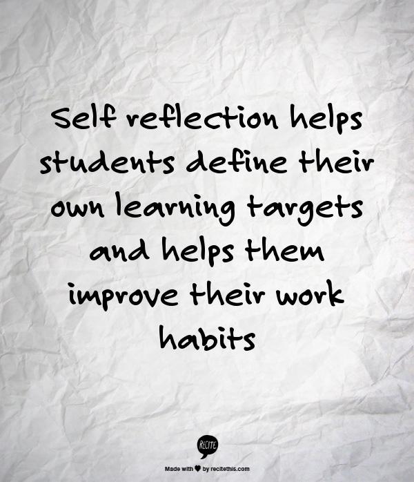 reflection on self study View essay - self study reflectionpdf from english 1010 at salt lake community college loren branca mrs mcnett writing intro 26 september 2017 self study.