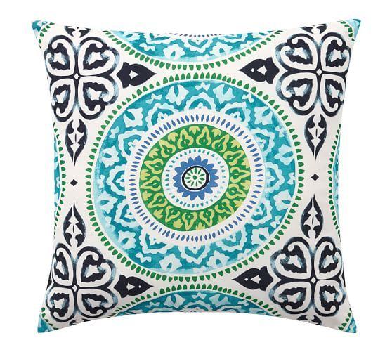 Leona Medallion Indoor/Outdoor Pillow | Pottery Barn