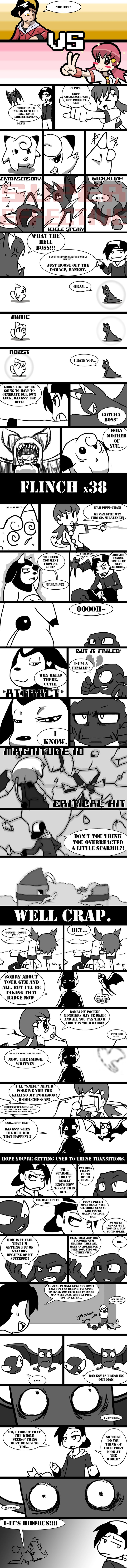 "Death's HG-SS Nuzlocke page 23 by Protocol00.deviantart.com on @deviantART -- THIS IS PERFECT!! THE MILTANK!! XDD ""I know."""