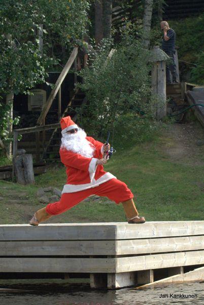 Santa Claus & fishing on Lake Saimaa