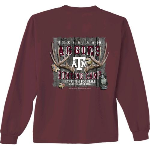 New World Graphics Men's Texas A&M University Hunt Long Sleeve T-shirt (Red Dark, Size X Large) - NCAA Licensed Product, NCAA Men's Tops at Academy...