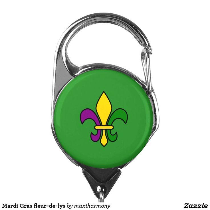 Mardi Gras fleur-de-lys Badge Holder