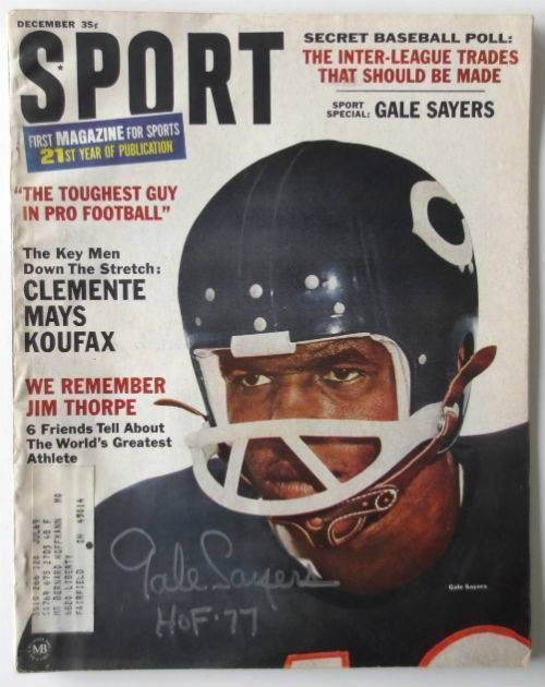 Gale Sayers Chicago Bears Signed December 1966 SPORT Magazine INSCR. HOF 77 SI