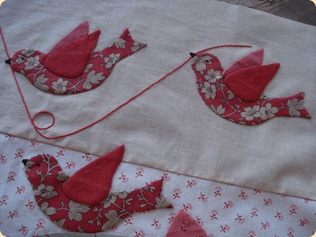 Beautiful applique project using French General fabrics.