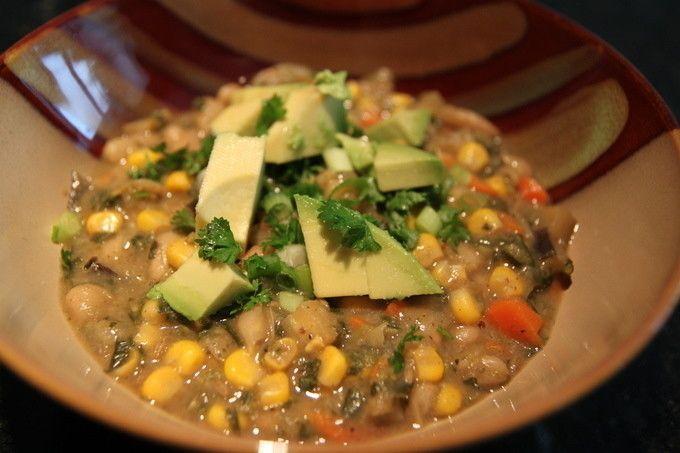Gluten-free Vegetarian White Bean Chili | Living Linda