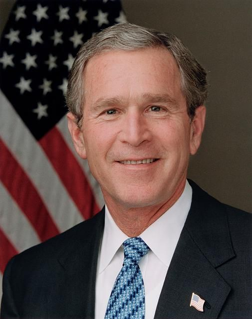George W. Bush, 43rd President of the United States (2001-2009). Photo by Eric Draper, 2003.  Library of Congress Prints and Photographs Division.