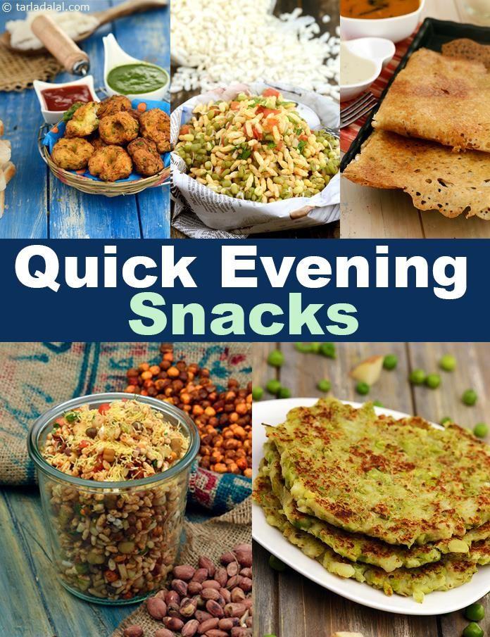 273 Quick Evening Snacks Indian Veg Evening Snacks Tarla Dalal Healthy Indian Snacks Veg Snacks Healthy Evening Snacks