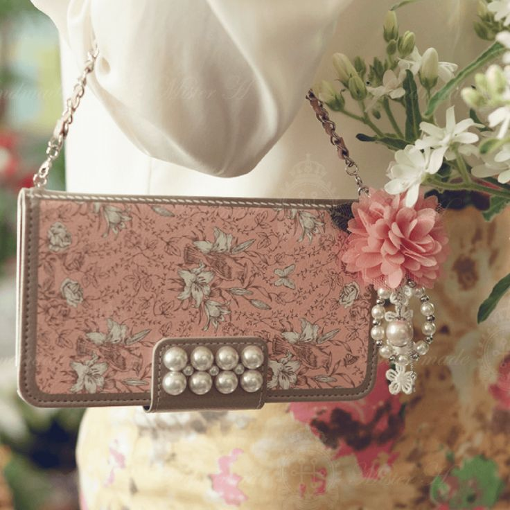Garden Age Hand Made Wallet Case - Pink