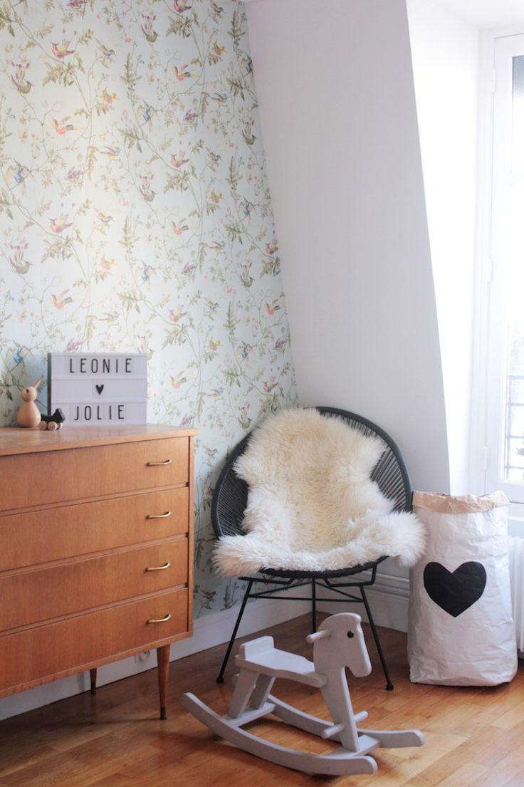 chambre-fille-vintage-retro-romantique-rose-vert-menthe ...