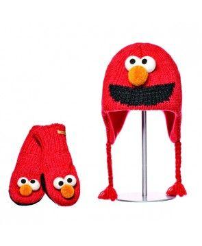 Czapka i rękawiczki wełniane Elmo Kids, Knit Wits.