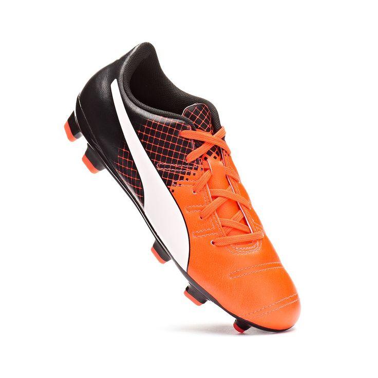 PUMA Evopower 4.3 Tricks Firm-Ground Jr. Kids' Soccer Cleats, Kids Unisex, Size: 11, Orange