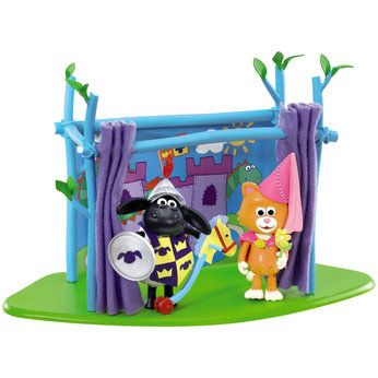 Shaun the Sheep Timmy Time Showtime Playset  Make up your very own stage show, and re-create scenes from the Timmy Time TV show with this fun Showtime Playset that features a castle backdrop, fabric curtains and props!Includes Knight Timmy and Princess Mittens posable figures.     http://www.comparestoreprices.co.uk/childs-toys/shaun-the-sheep-timmy-time-showtime-playset.asp