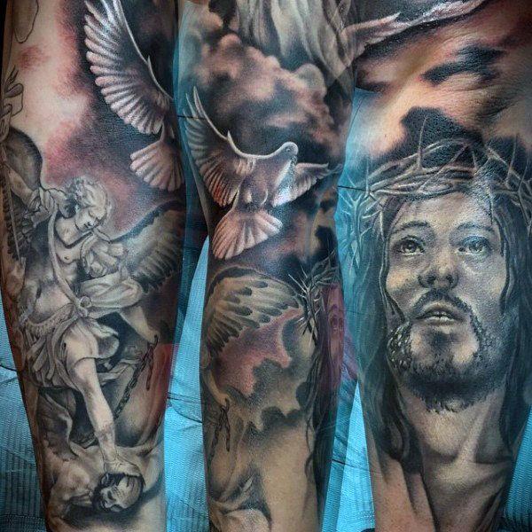 26 best tattoo sleeve images on pinterest angels tattoo arm tattoos and guardian angel tattoo. Black Bedroom Furniture Sets. Home Design Ideas