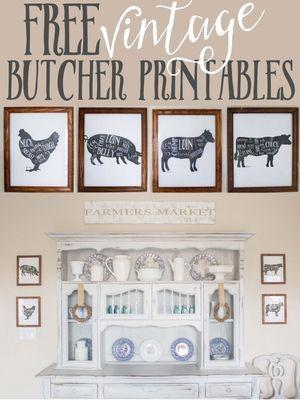 4 FREE Butcher Printables