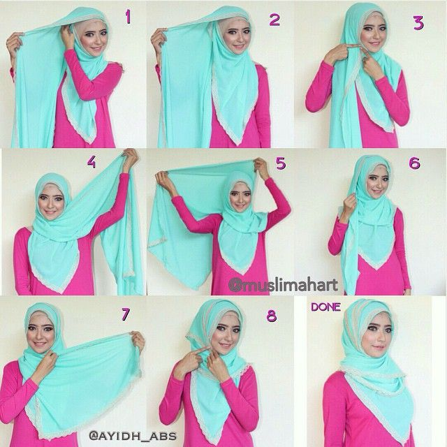 This hijab tutorial is so easy as it only requires you  wraping your hijab until there's no fabrc to wrap, it's simple, comfy and looks so beautiful. To get this look, follow the steps below: 1. Place the hijab on…