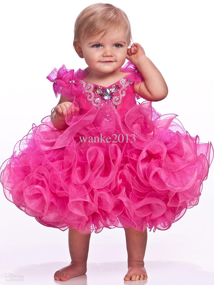 Jeweled V-Bodice Unique Fashion Baby Pageant Dress For Girls