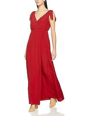 10, Red, Springfield Women's 3.Pa.Vestido Largo Rojo Casual Dress NEW