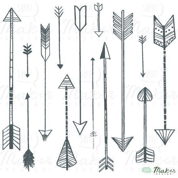 arrow line clip art-#36