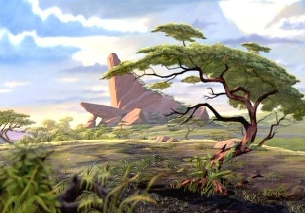 Pride Rock in The Lion King .