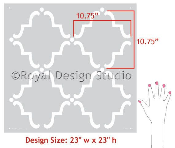 Casablanca Trellis Moroccan Wall Stencil. Allover Moroccan Wall Stencils | Royal Design Studio