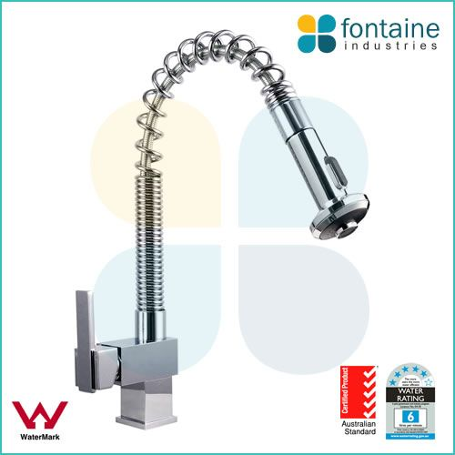 Douglas extended spaghetti brass kitchen laundry mixer tap Australian Standard | Renovation Design Ideas Affordable | Fontaine Industries |