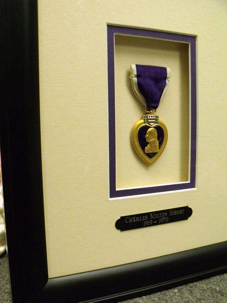 Military Purple Heart Medal Framing