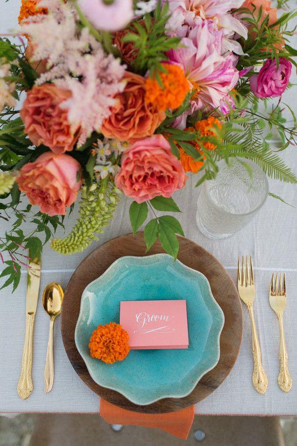 Place Setting | Boho Wedding | Free People Inspired Wedding Ideas