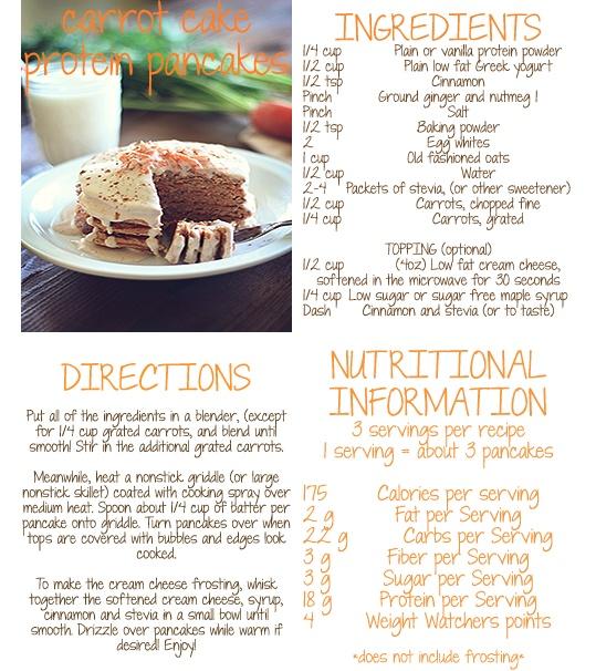 Carrot Cake Protein Pancakes! | Health Nut | Pinterest
