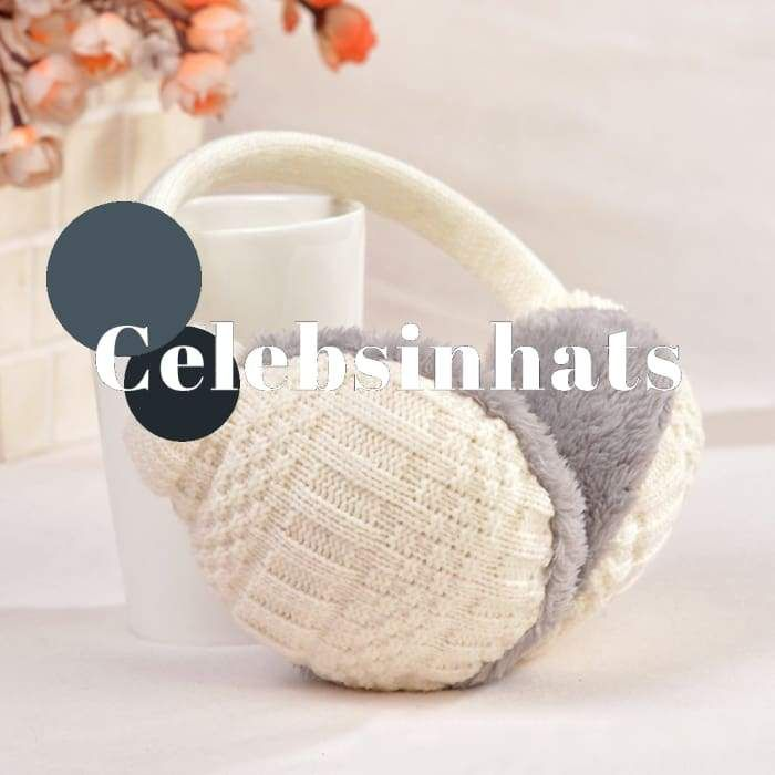 Top Sell Winter Ear Cover Women Warm Knitted Earmuffs Ear Warmers Women  Girls Plush Ear Muffs Earlap Warmer Headband  Celebsinhats  Christmas   Presents 73f8b3c67a38