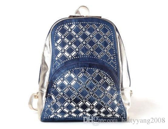 Rhinestone Denim Backpack Jeans Crystals Backpack Fashion School Bags Backpacks For Teenage Girls Mochila Spark Ipad Gold Silver Women Bag Hunting Backpacks Gregory Backpacks From Hattyyang2008, $16.24| Dhgate.Com