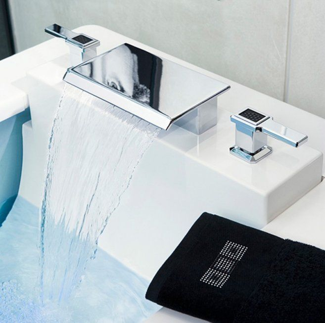 New Style Bathroom Faucets Transitional Style Waterfall Faucet