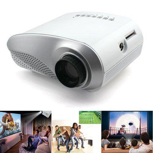 Новый мультимедийный домашний кинотеатр домашний кинотеатр жк-проектор HD 1080 P USB HDMI VGA TV пк av, H60W белый