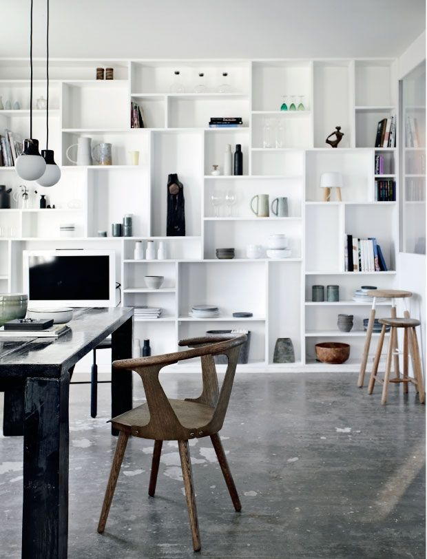 Shelving and storage which is also a feature and not just functional