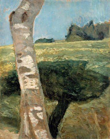 Paula Modersohn Becker (All. 1876-1907), Birkenstamm (bouleau), huile sur toile