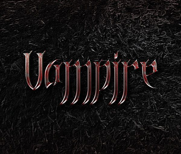 Vampire Blood Text Effect PSD