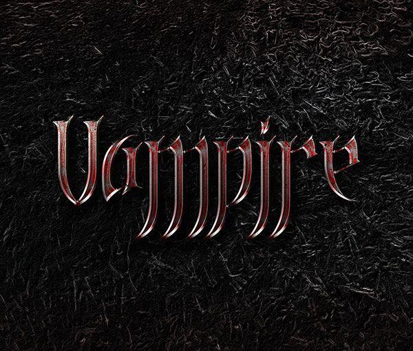 Vampire Blood Text Effect PSD