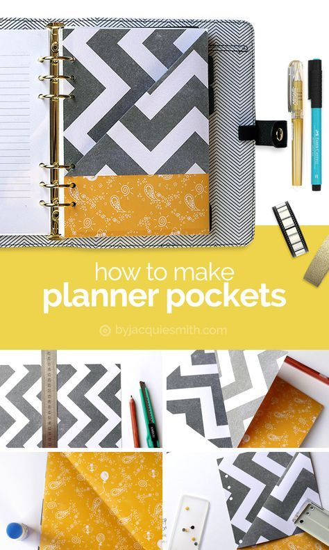 How to Make Planner Pockets at byjacquiesmith.com