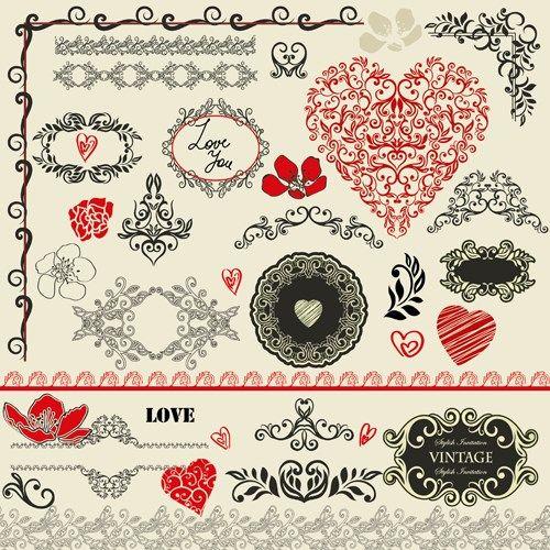 Vintage Valentines Border 95073 Movieweb