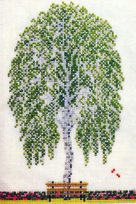 Embroidery. Trees. Discussion on LiveInternet - Russian Service Online Diaries
