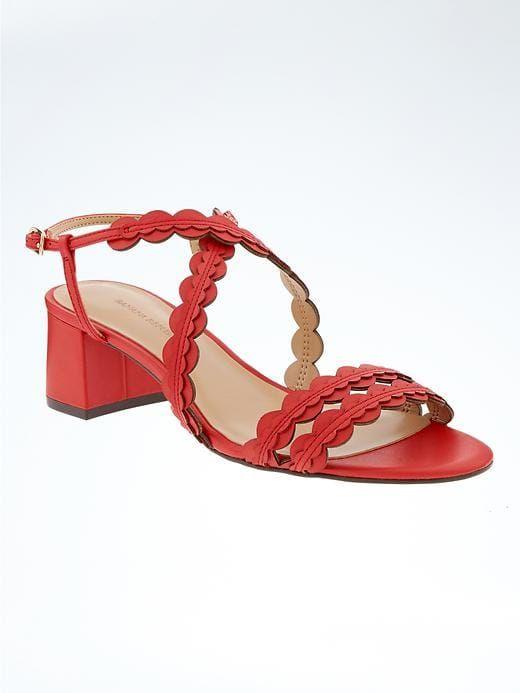 1d0a71d2d5e Banana Republic Scalloped Block Heel Sandal