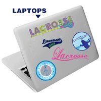 Lacrosse (Girl) SportSTICS - Reusable Stickers for Laptops Etc.